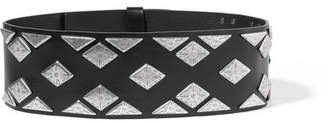 Isabel Marant Zony Embellished Leather Waist Belt - Black