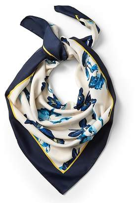Banana Republic Anneke Floral Large Square Scarf