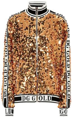 Dolce & Gabbana Sequined track jacket