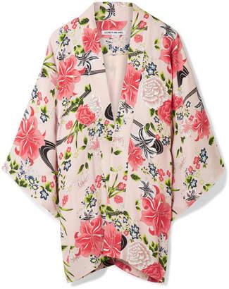 Elizabeth and James - Drew Floral-print Chiffon Jacket - Baby pink