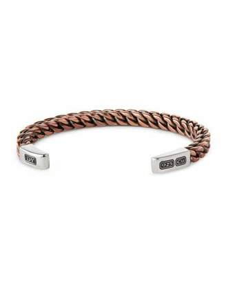Sterling Silver And Leather Bracelet David Yurman keWuCX