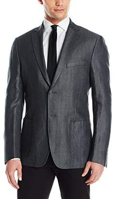 DKNY Men's Two Button Slim Fit Blazer