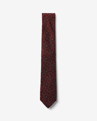 Express Narrow Floral Patterned Silk Tie