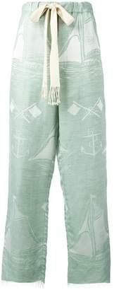 Loewe boat pattern drawstring trousers