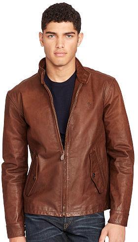 Polo Ralph LaurenPolo Ralph Lauren Leather Full-Zip Jacket