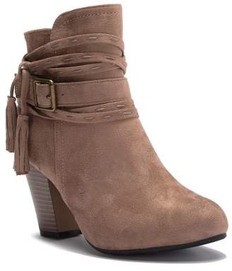Top Moda Oliver Tassel Block Heel Boot