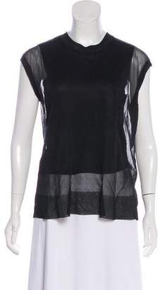 Alexander Wang Silk Sleeveless T-Shirt