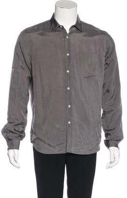 Valentino Satin Button-Up Shirt