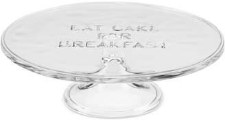 """Kate Spade all in good taste """"Eat Cake for Breakfast"""" 10"""" Glass Cake Plate"""
