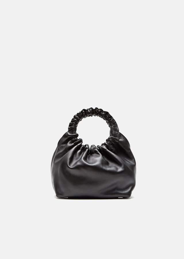 The Row Double Circle Small Bag Black Pld