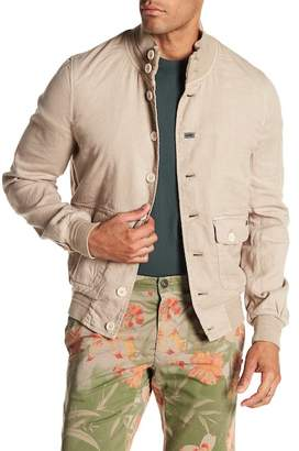 Mason MASONS Linen Blend Ribbed Trim Jacket