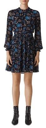 Whistles Elderberry Dobby Dress