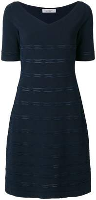 D-Exterior D.Exterior textured V-neck dress