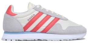 adidas Suede-Trimmed Mesh Sneakers