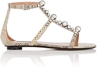 SAMUELE FAILLI Women's Kandy Snakeskin Sandals