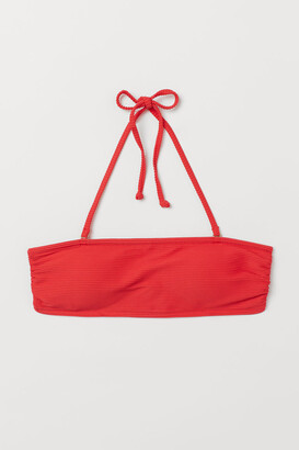 H&M Padded Bandeau Bikini Top - Red