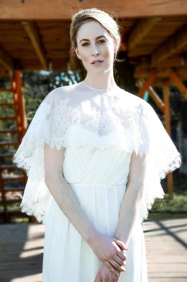 Etsy Ivory white wedding shawl, Wedding cover up, wedding lace cape, bridal cape, wedding shrug, bridal s