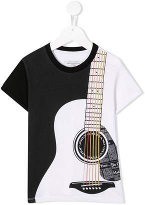 John Galliano guitar print T-shirt