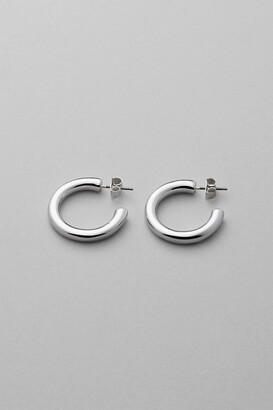Thick Silver Hoop Earrings Style Uk