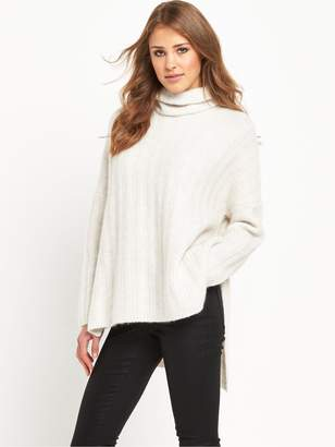 Selected Mali Roll Neck - Snow White