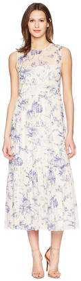 RED Valentino Silk Stretch Muslin Monkey Toile De Jouy Print Dress Women's Dress