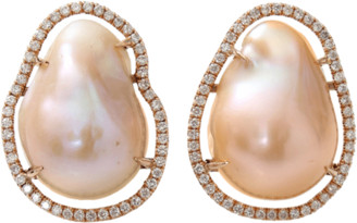 Jordan Alexander Fresh Water Pearl Slice Earrings