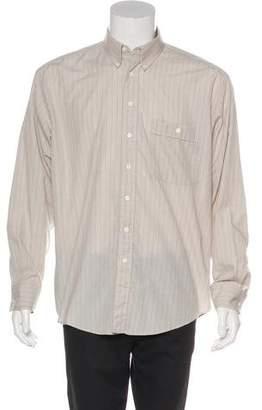 Saint Laurent Striped Button-Up Shirt