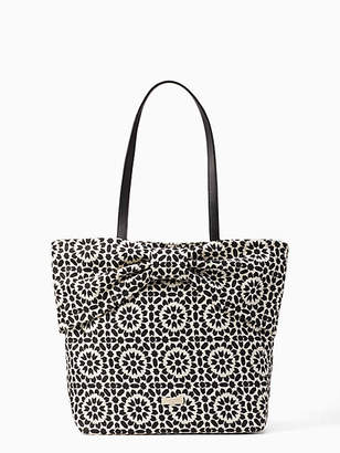 Kate Spade On purpose floral mosaic canvas bow tote