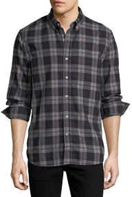 Jimmy Button-Down Twill Plaid Shirt
