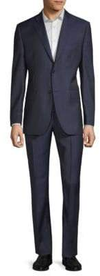 Saks Fifth Avenue Multi Window-Pane Print Wool Suit