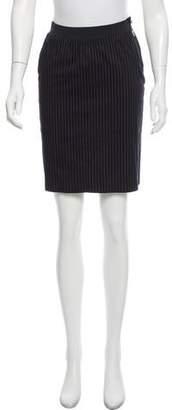 Poleci Pinstripe Knee-Length Skirt