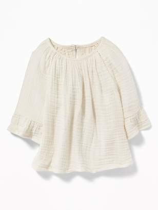 Old Navy Crinkle-Gauze Peasant Top for Baby
