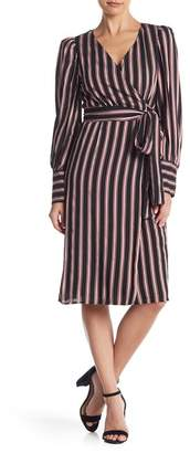 Do & Be Do + Be Multi-Striped Wrap Dress