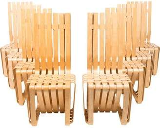 Knoll Set of 8 Frank Gehry High Sticking Chairs