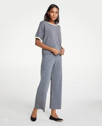 Ann Taylor Petite Wool Knit Wide Leg Pants