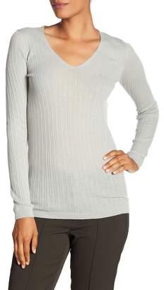 Vince Cashmere Ribbed V-Neck Sweater