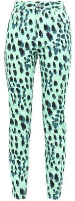 Just Cavalli Printed High-rise Skinny Jeans