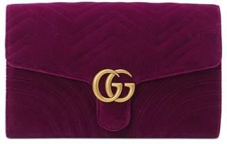 Gucci GG Marmont velvet clutch