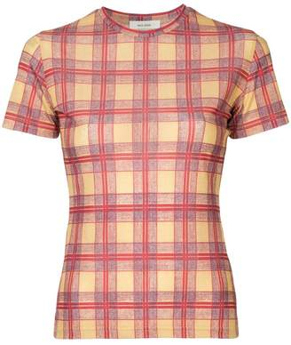 We11done checked fitted T-shirt