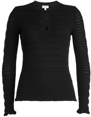 Kenzo Pullover with Cut-Out Detail
