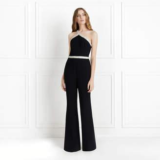 Rachel Zoe Lucy Crystal-Embellished One Shoulder Jumpsuit