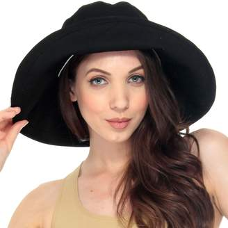 Simplicity Summer Solid Cotton Bucket Hat with Big Fold-Up Brim