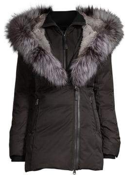 Mackage Fox Fur-Trim Down Coat