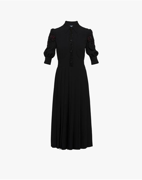 Prada Prada Embroidered Shirt Dress