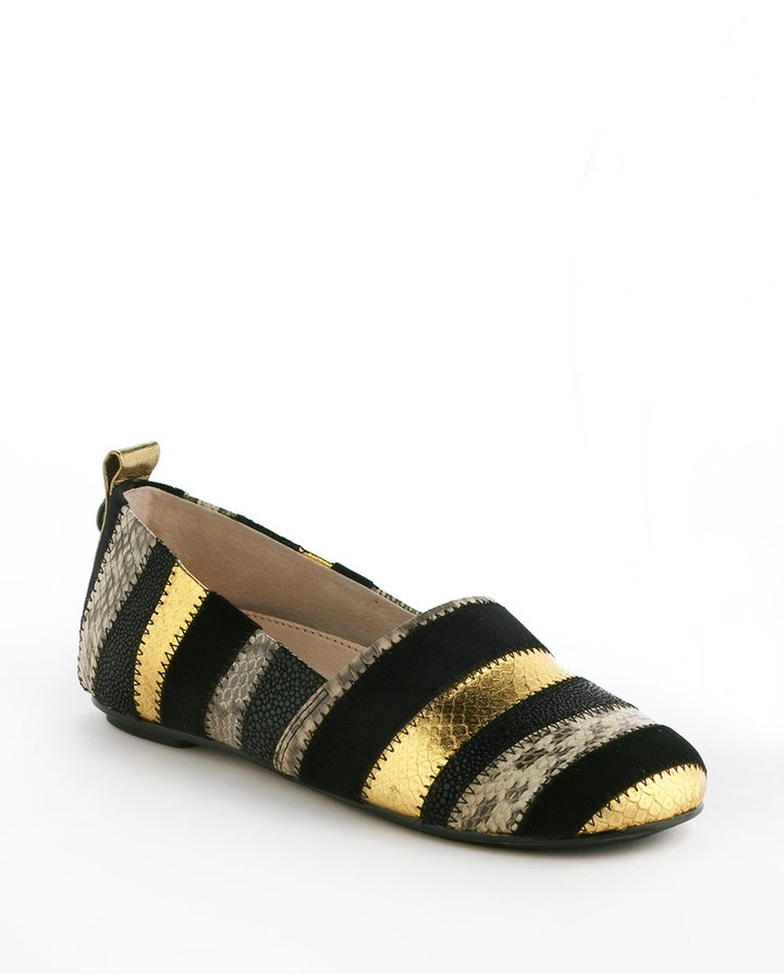 House Of Harlow Kail Leather Driving Flats
