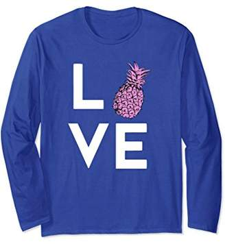 I Love Pineapples! Pop Art Pineapple Long Sleeve T-Shirt