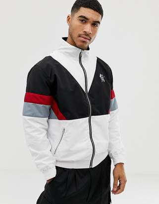 Gym King jacket in white retro shell