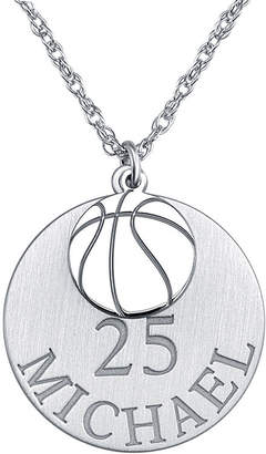 FINE JEWELRY Personalized Basketball 20mm Pendant Necklace