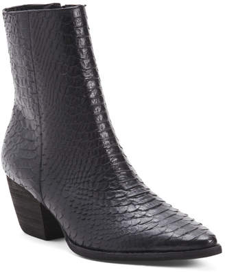 Made In Brazil Leather Pointy Toe Booties