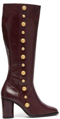 Rue St. - Lana Leather Knee High Boots - Womens - Burgundy